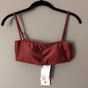 NWT Billabong Women's Bandeau Rust Top